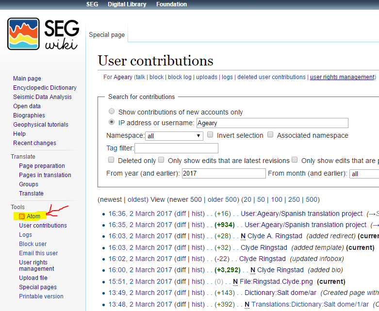 how to find rss feed