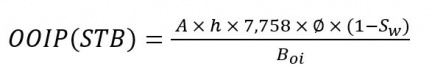 OOIP Imperial Equation