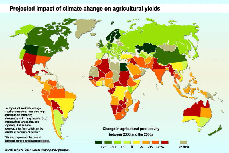 File:Projected impact of climate change on agricultural yields by the 2080s, compared to 2003 levels (Cline, 2007).png